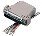 RJ45 Female to DB25M Modular Adapter